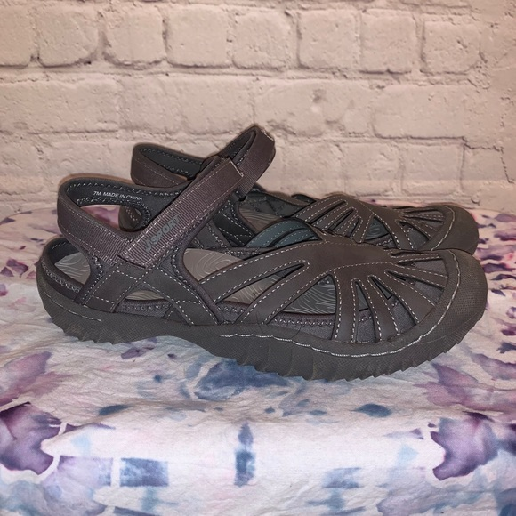 JSport by Jambu Poppy Gray Waterproof Sandal